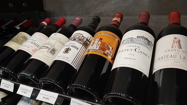 grands crus classés caveau aux secrets des vins la chapelle d armentieres pontet canet leoville barton latour